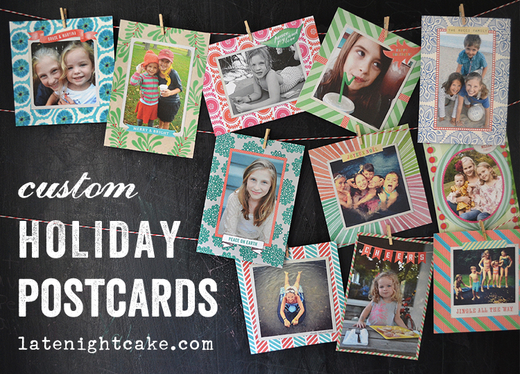Holiday postcards by Late Night Cake