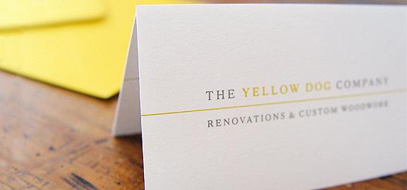 The Yellow Dog Compamy // custom graphic design work