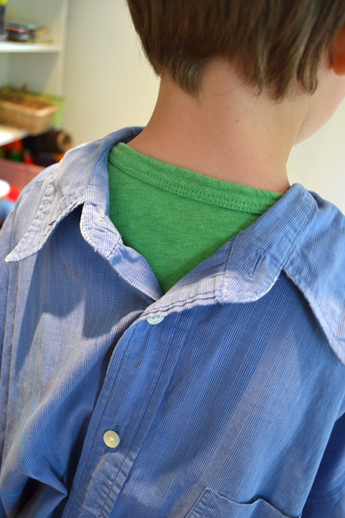 smock from a men's old shirt