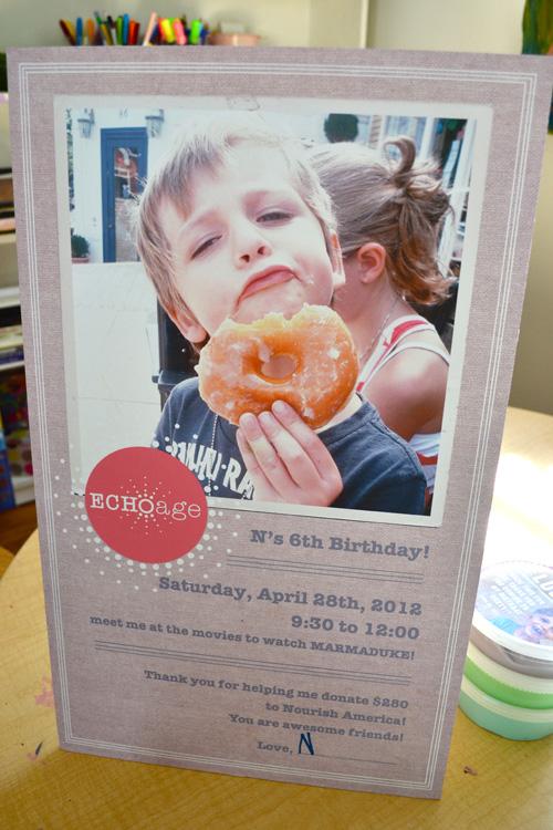 ECHOage ~ plan a birthday party that celebrates giving