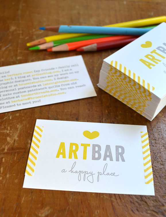 Art Bar quick and easy printed business cards
