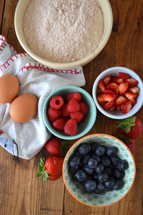 Dairy-free triple berry muffins