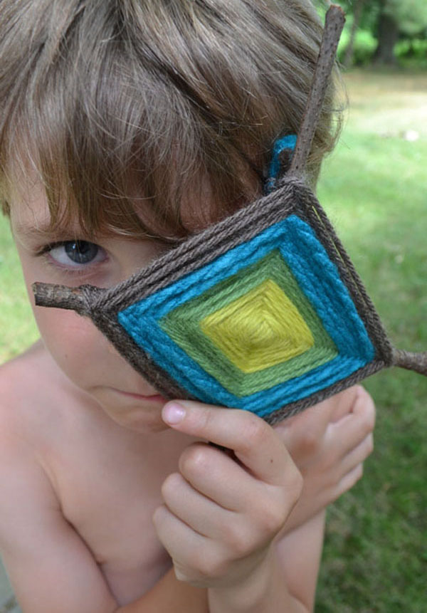 making God's Eyes with kids is an old school craft with a thousand color variations, so make more than one!
