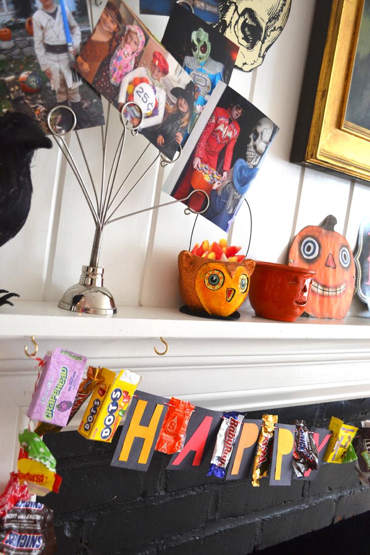 candy wrapper halloween garland artbar