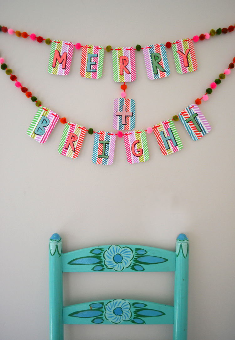 DIY holiday garland
