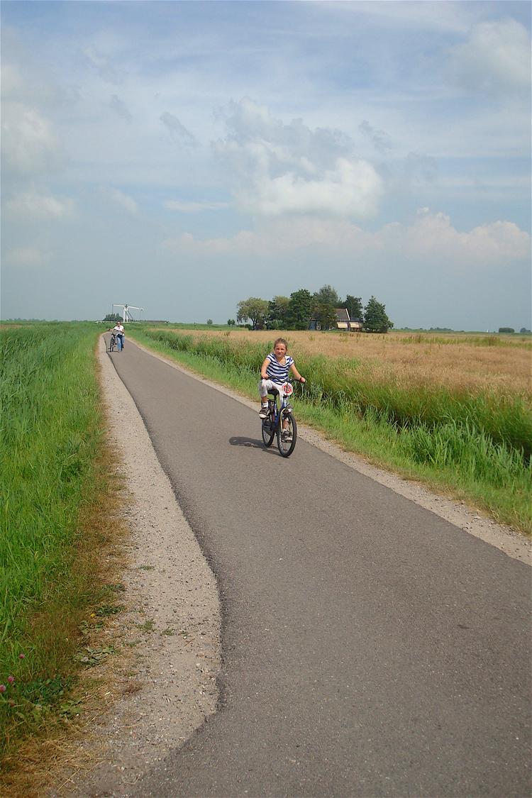 Biking around Amsterdam with kids