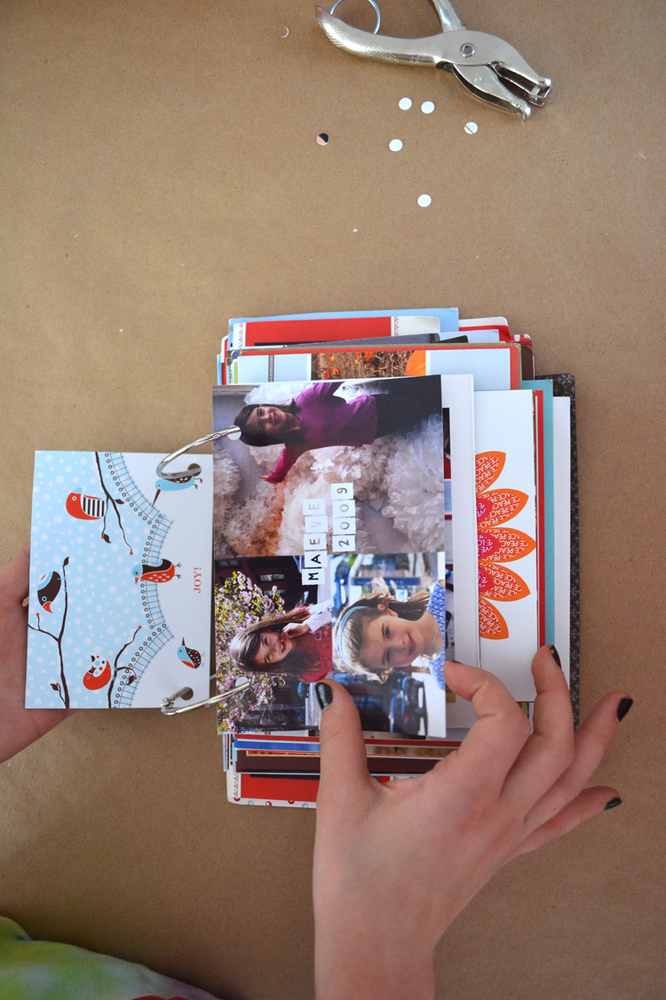 DIY Simple Book from Old Holiday Cards - ARTBAR