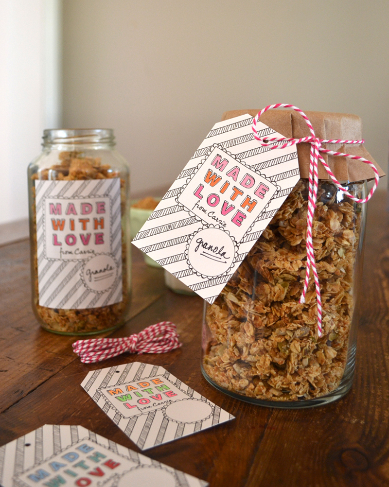 Food label and gift tag designed for a client's homemade treats