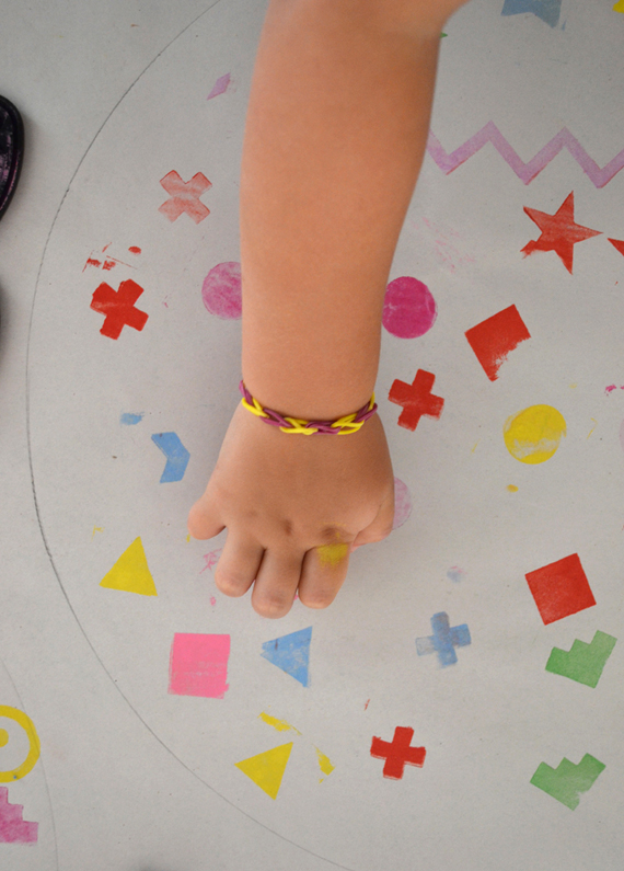 exploring shapes with little ones through mixed media art | art bar