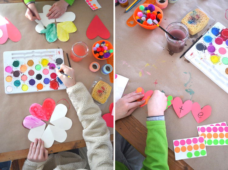 craft table: handmade valentines | art bar