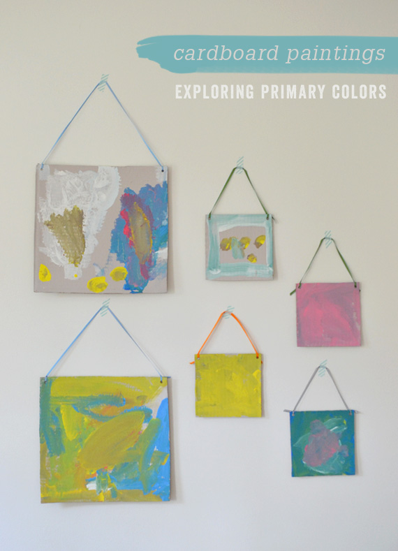 simple recycled art project for littles