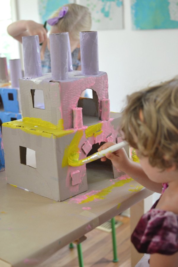 make beautiful princess castles from recycled materials