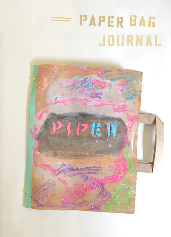 make art journals with your kids from paper bags // teach them how to think like an artist!