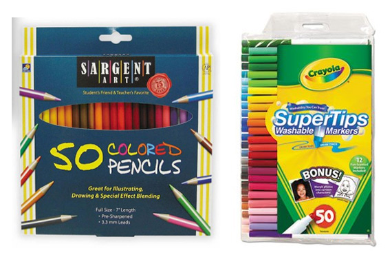 basic drawing materials to stock for your home art area