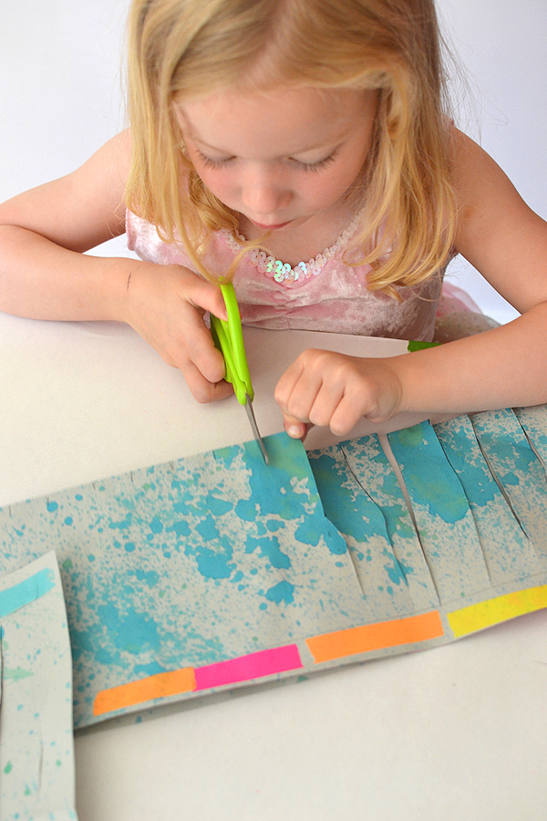 paper made with splattered liquid watercolor