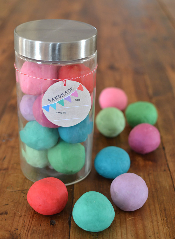 give the gift of the most beautiful colored homemade play dough this Holiday