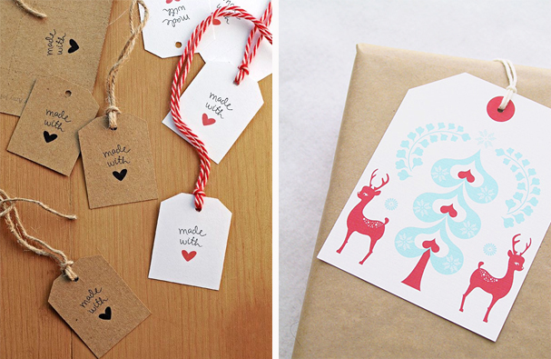 perfect for last minute wrapping ~ just print and cut!