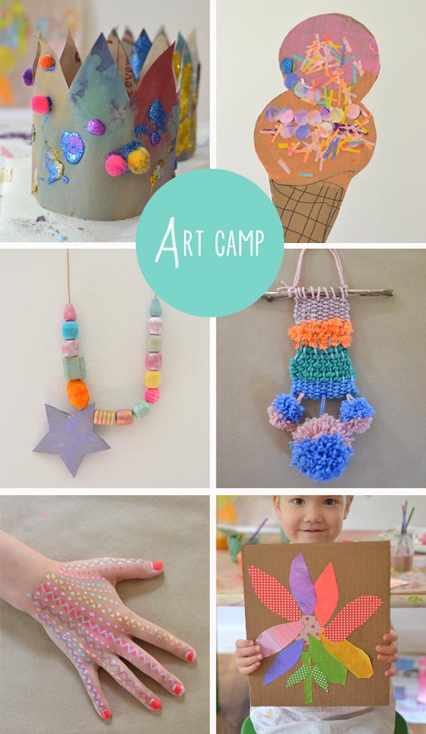 30 creative ideas // {art camp projects}