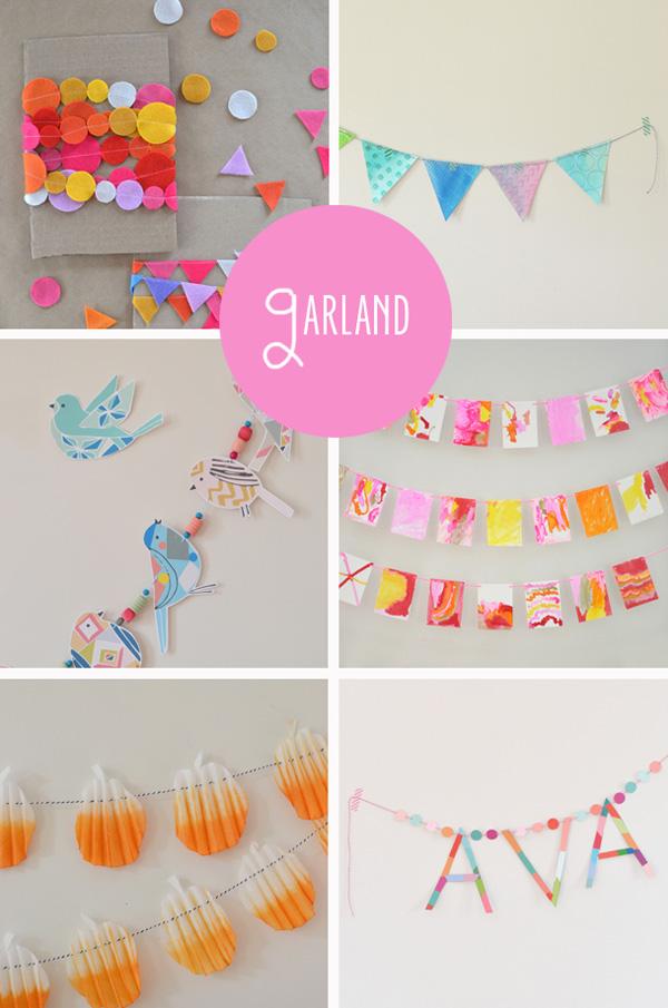 30 creative ideas {handmade garlands}
