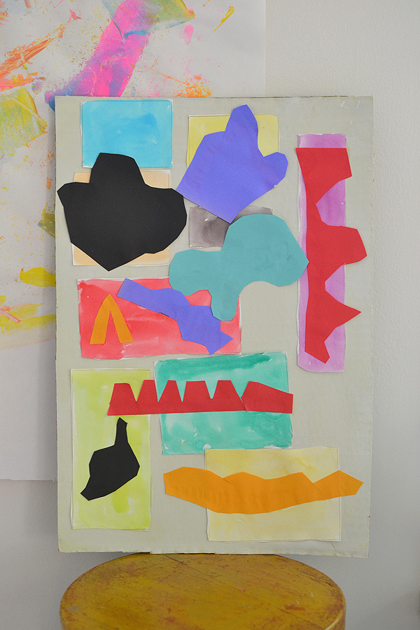 kids make collage art inspired by Henri Matisse