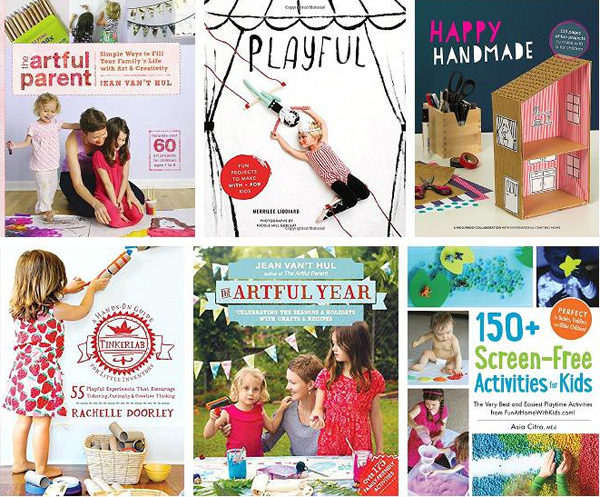 Kid craft books by the Rockin' Art Moms