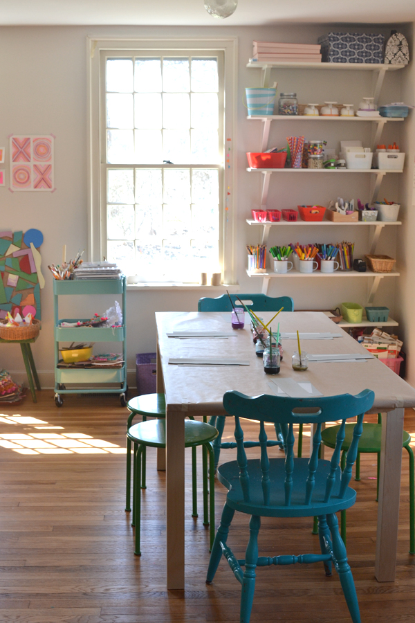 make your own art space at home for your kids