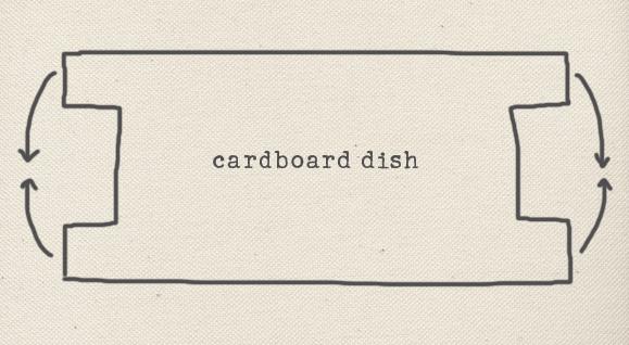 cardboard dish template