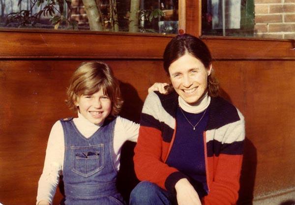 me and mom, 1976