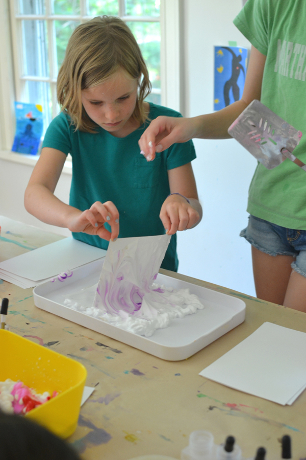 make beautiful marbled paper with shaving cream