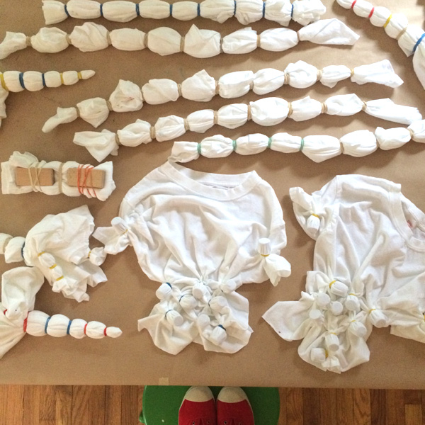 shibori tie-dying with RIT dye