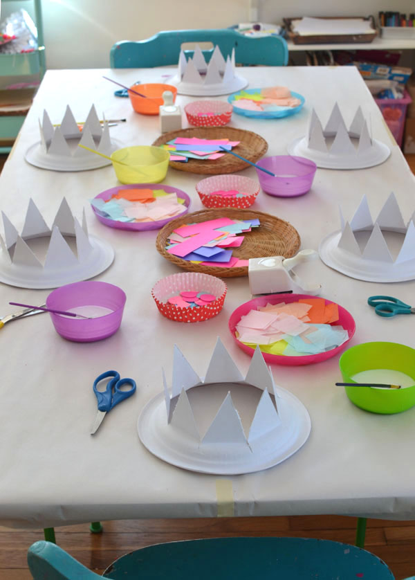 6af214cf52ef4 Paper Plate Party Hats - ARTBAR