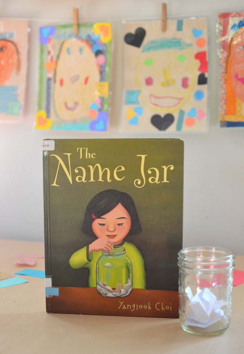 Children draw portraits of each other, inspired by the book The Name Jar, and then use the Scotch™ Thermal Laminator to make their portraits everlasting.#ad