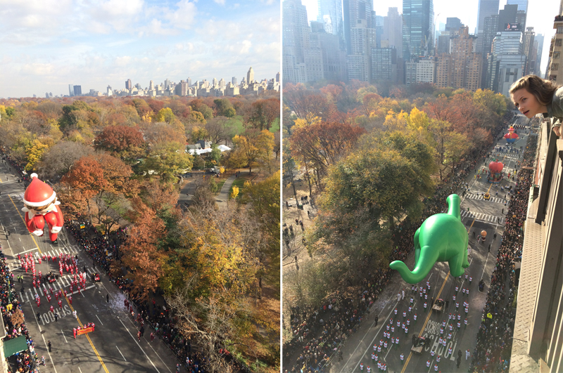 Macy's Thanksgiving Day Parade, view from the apartment over Central Park West