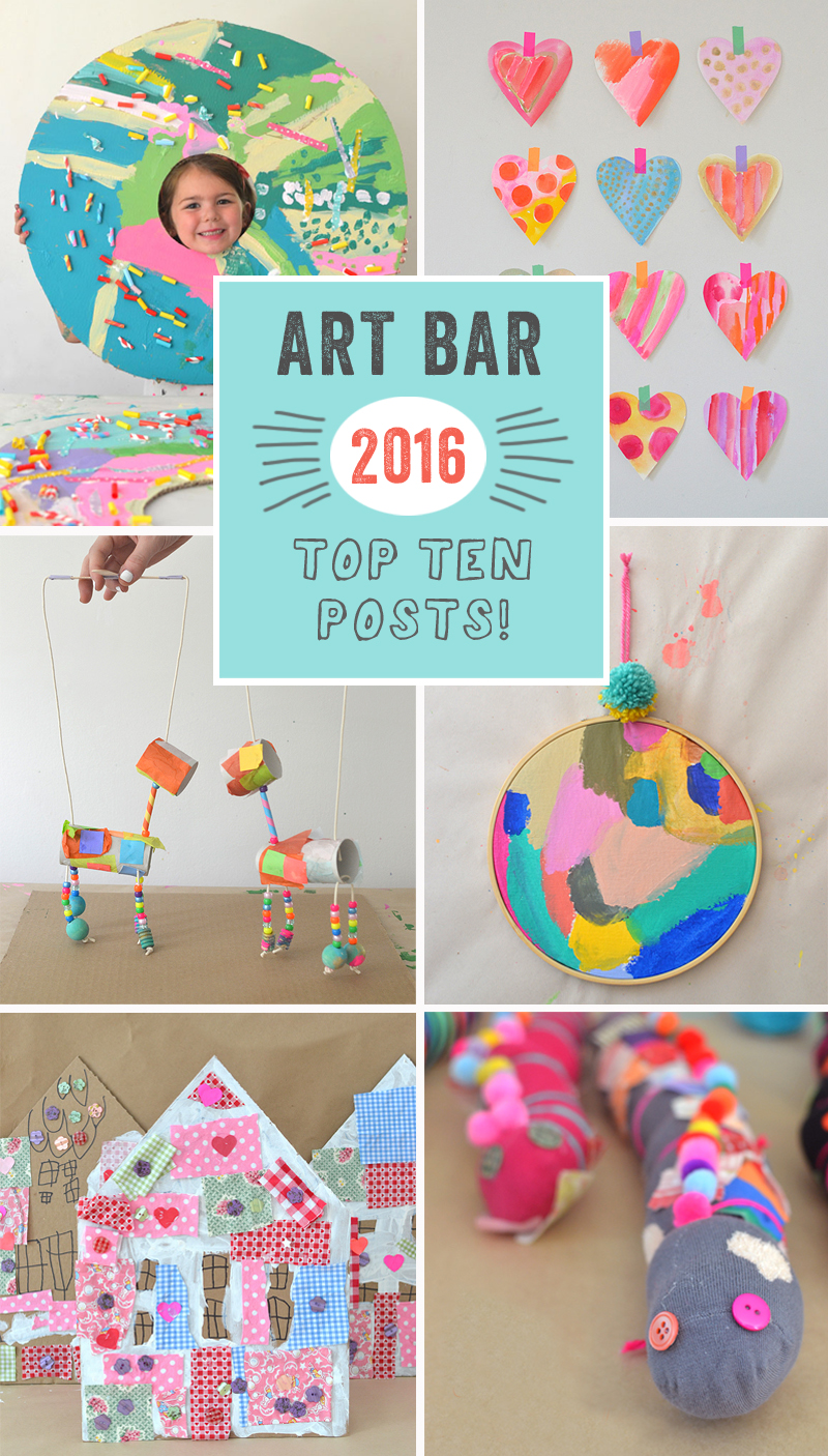 Art Bar Blog top TEN posts of 2016 // art with children