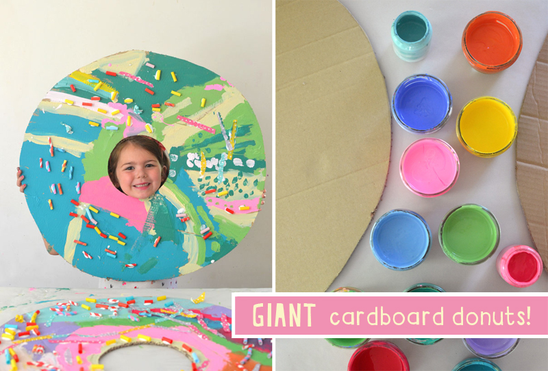 Cardboard and paint is all you need to make these eclectic and delicious donuts.