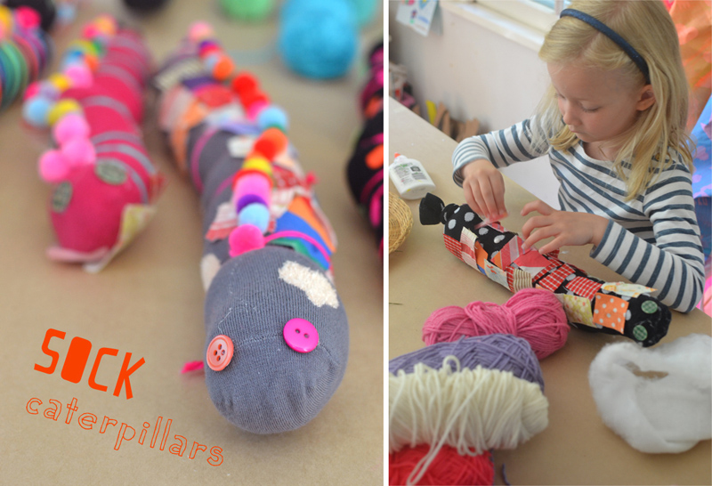 Use leftover mismatched socks to make the cutest caterpillars! No sewing needed.
