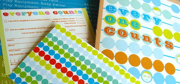 Math Themed School Fundraiser Invitation: Everyone Counts