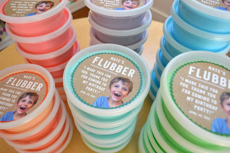 Custom label for homemade flubber container