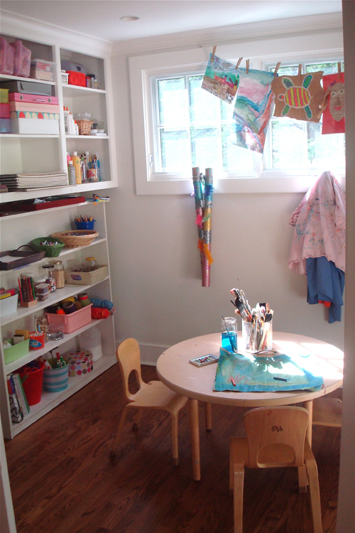 our art room at home
