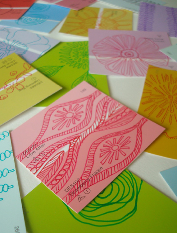 Gift Tags from Paint Chips