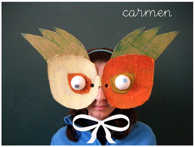 Carnevale masks made by kids