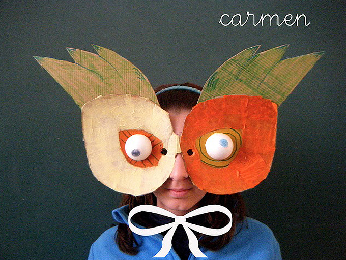 Cardboard Carnevale Masks, by Neusa Lopez
