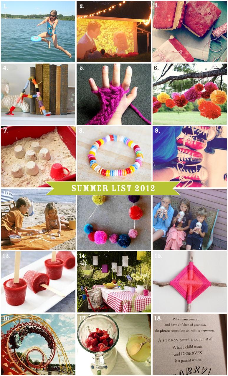 Summer List 2012