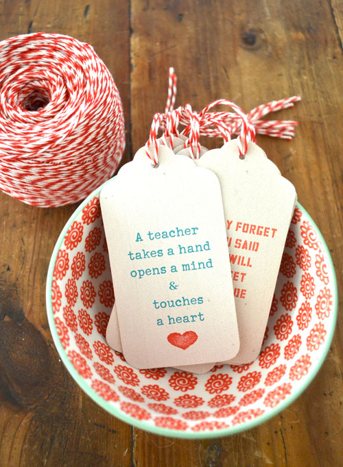 Printable teacher gift tags with quotes