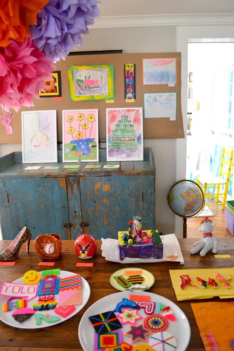 neighborhood art show for kids to raise money for the community