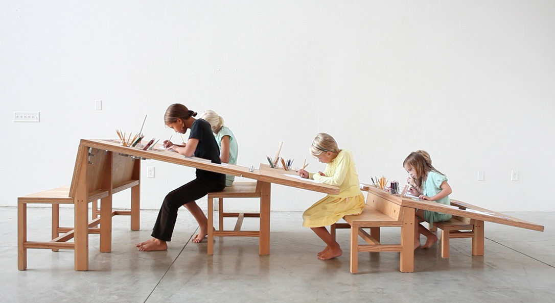 Growth Table - a work table designed for the whole family