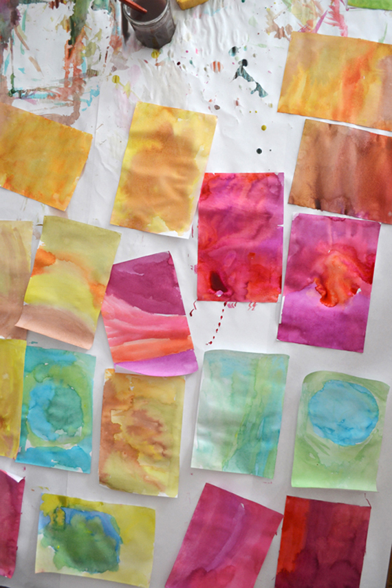 color study with liquid watercolor ~ art making for all ages | art bar