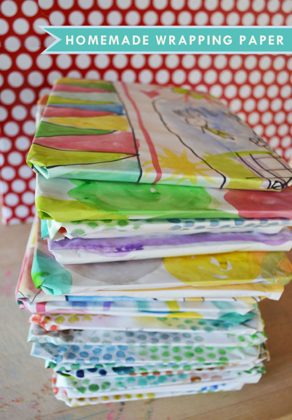 Homemade Wrapping Paper Artbar