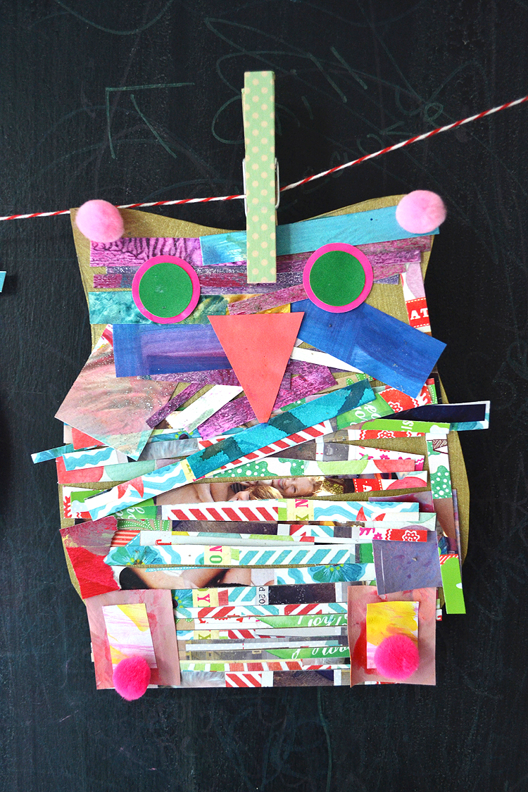 This Owl Template Is The Base For A Great Collage Activity Children