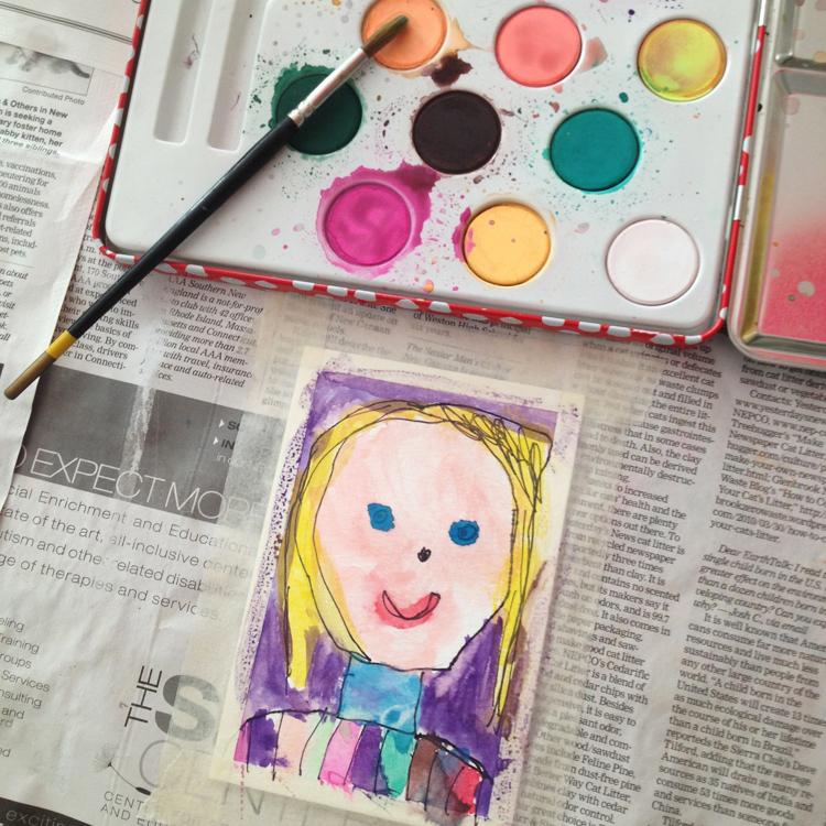 kid painted
